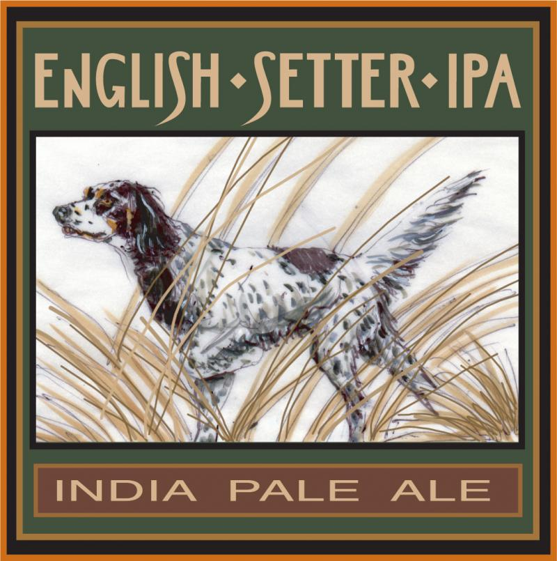 "Beer Label ""English Setter Ale"" for Dr. Jonathan Studer, DC."
